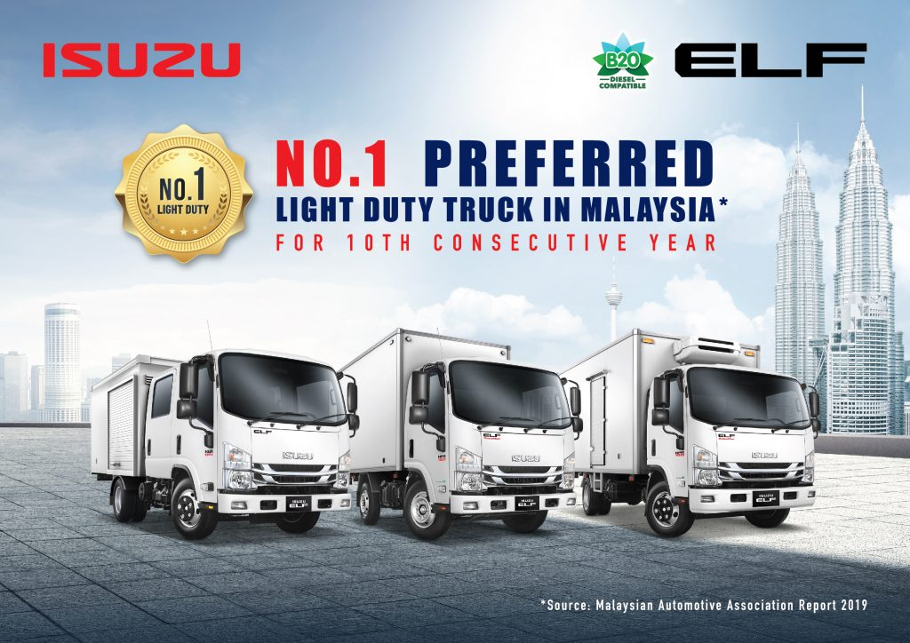 Isuzu ELF – Malaysia's No.1 Light Duty Truck For 10 Consecutive Years