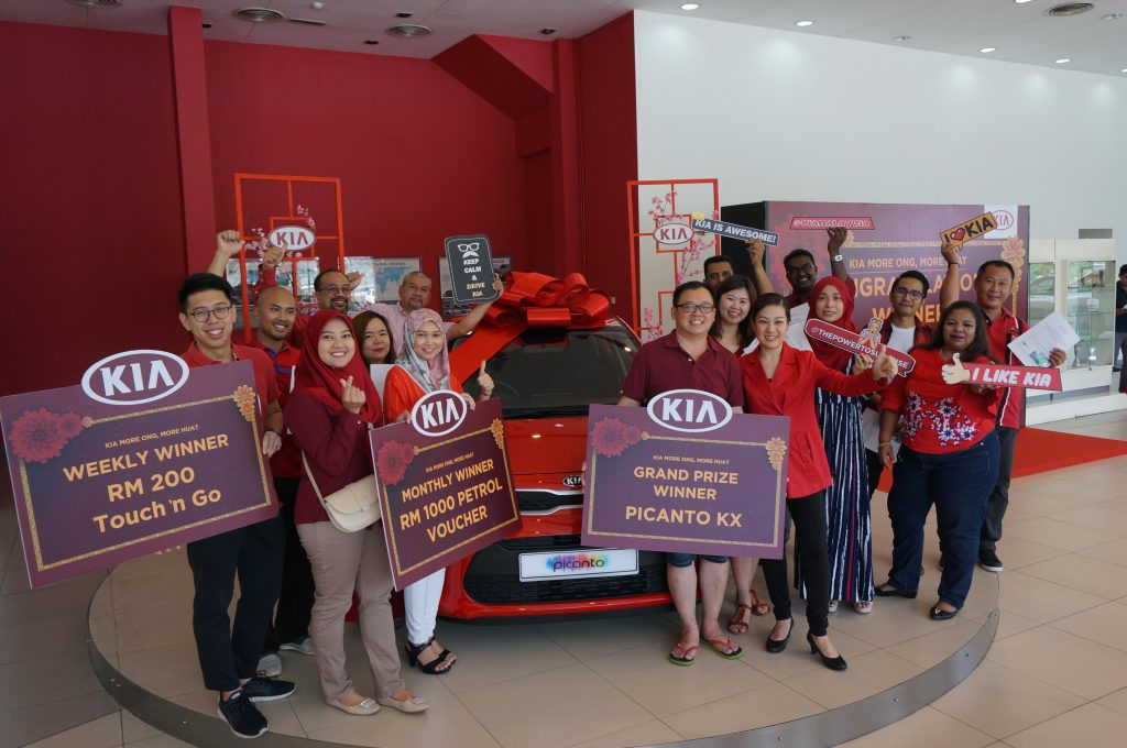 Double Joy For Naza Kia Malaysia 'More Ong, More Huat' Grand Prize Winner