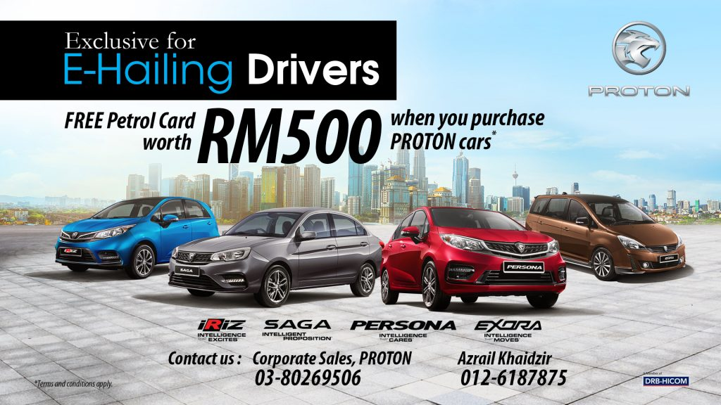 Proton New Promotion For E-Hailing Drivers