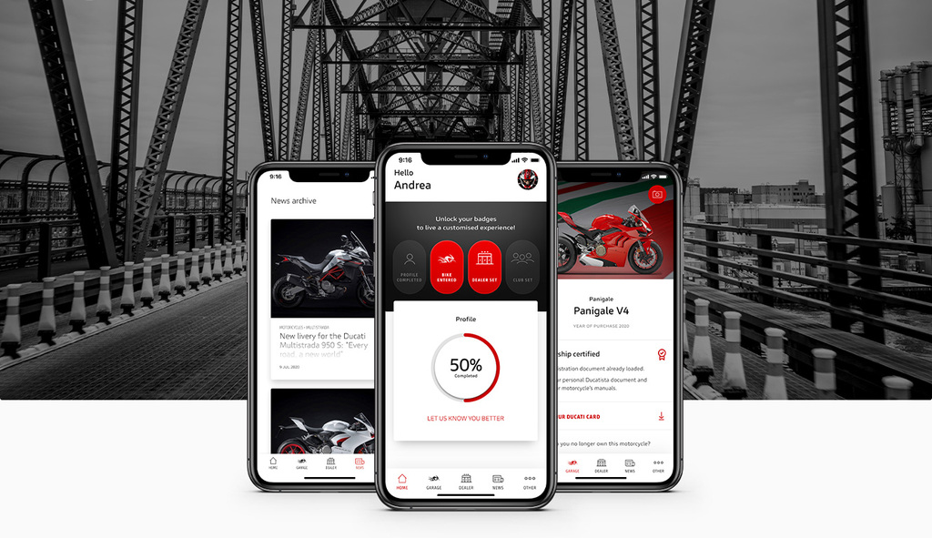 Ducati Launched Its Mobile App