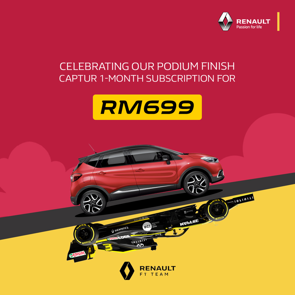For A Limited Time – Drive A Renault Captur For A Month For RM 699