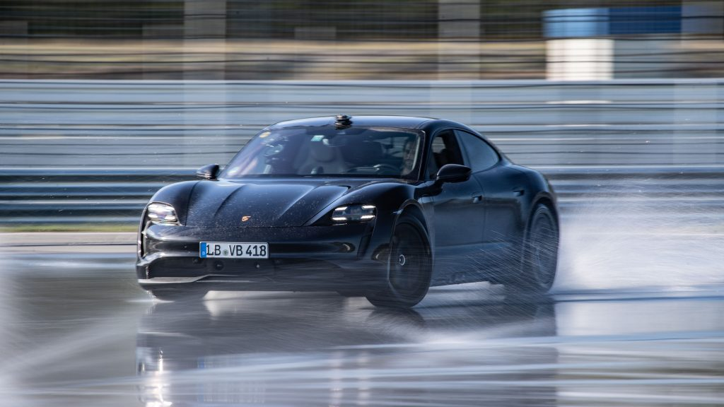 Porsche Taycan Sets Record For The Longest Drift With An Electric Vehicle