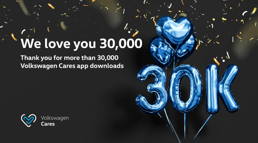 30,000 Downloads For Volkswagen Cares Mobile App