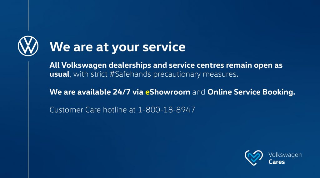 Volkswagen Dealerships & Service Centres Remained Open