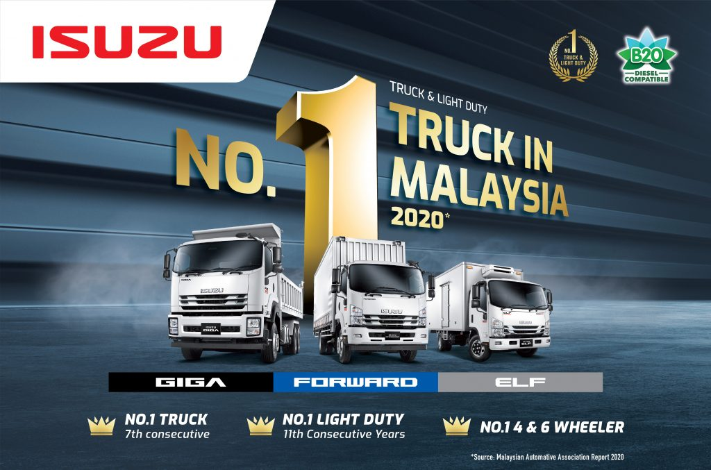 Isuzu Malaysia Dominated The No.1 Position For Malaysia's Truck Sales